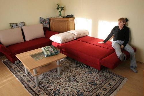 Ein Sofa ausgeklappt...