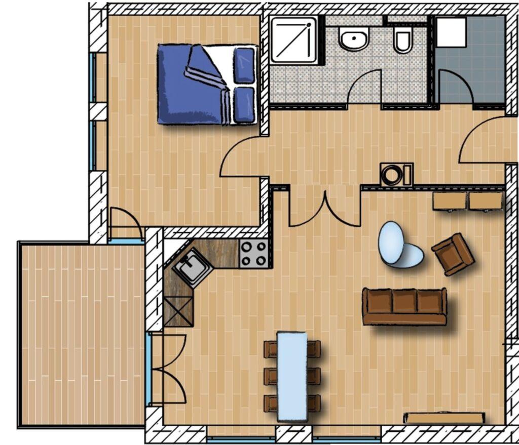 Seeresidenz WE 04, 2-Zimmer-Wohnung