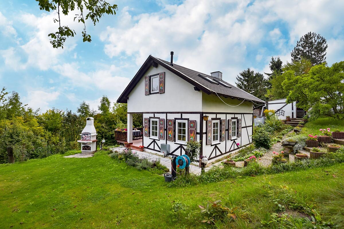 Ferienhaus Erfurtblick im Sommer