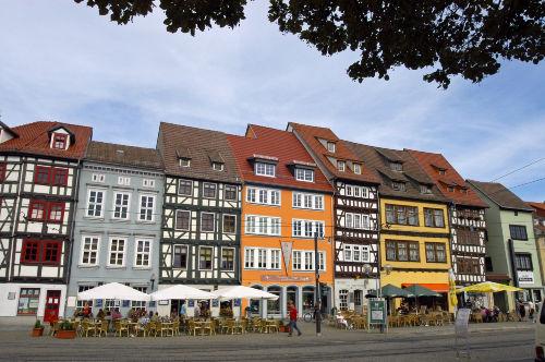 Erfurt, Fachwerkhäuser am Domplatz