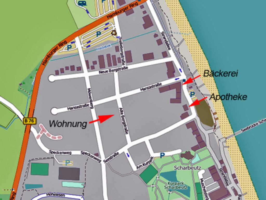 Turmresidenz Scharbeutz, 2-Raum Fewo, 47m², EG,Ter