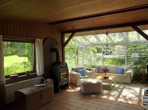 Das schöne Wohnzimmer im Wintergarten