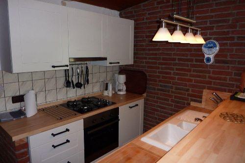 Die neue Küche mit Gasherd
