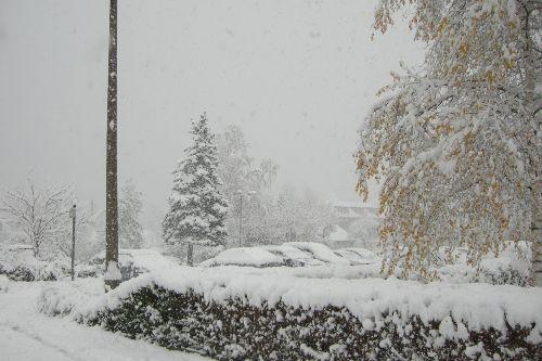 Parkplatz im Winter