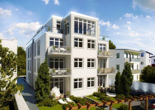 Terrassen-/Gartenansicht in S-/W-Lage