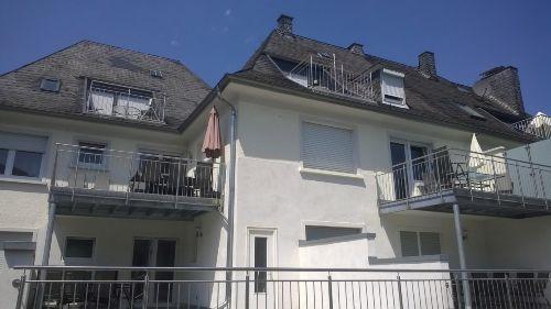 Balkone oder Terrassen mit Burgblick