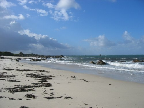 Strand Menfig, 100 Meter vom Haus