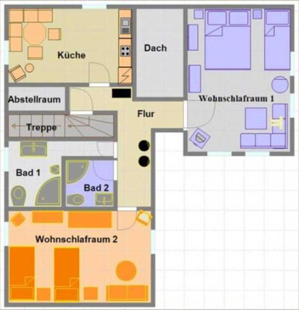 Ferienwohnungen Xenophil, Ferienwohnung 1 - Dachge