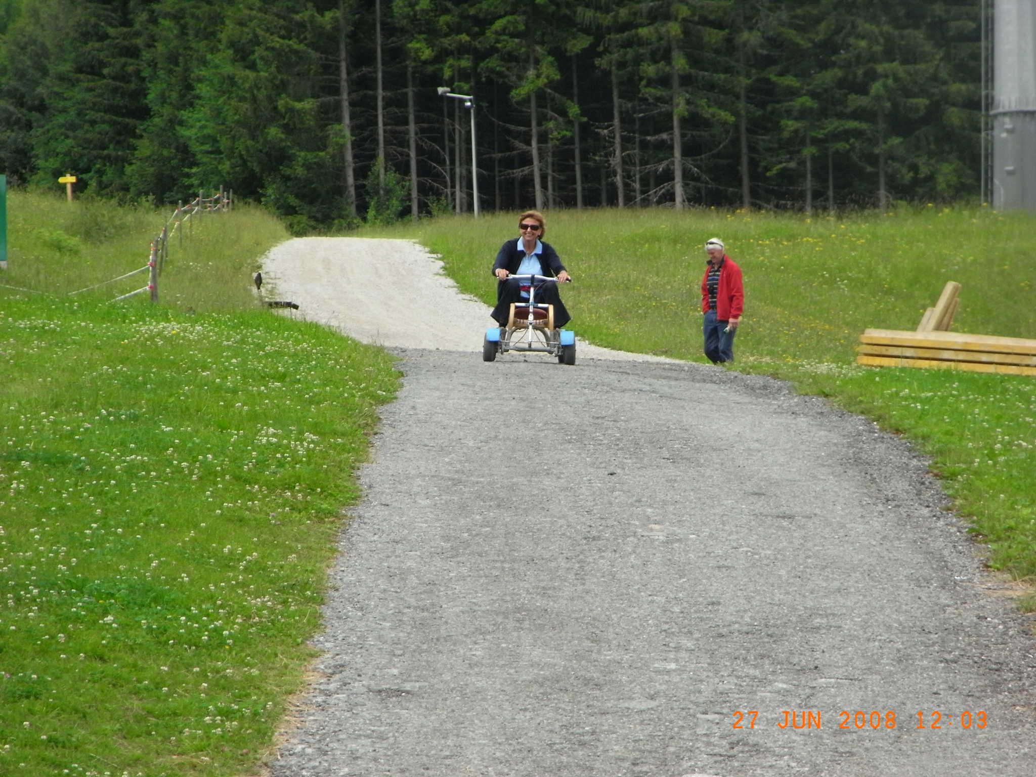 Go Kart Fahren bis zum Haus Rigl
