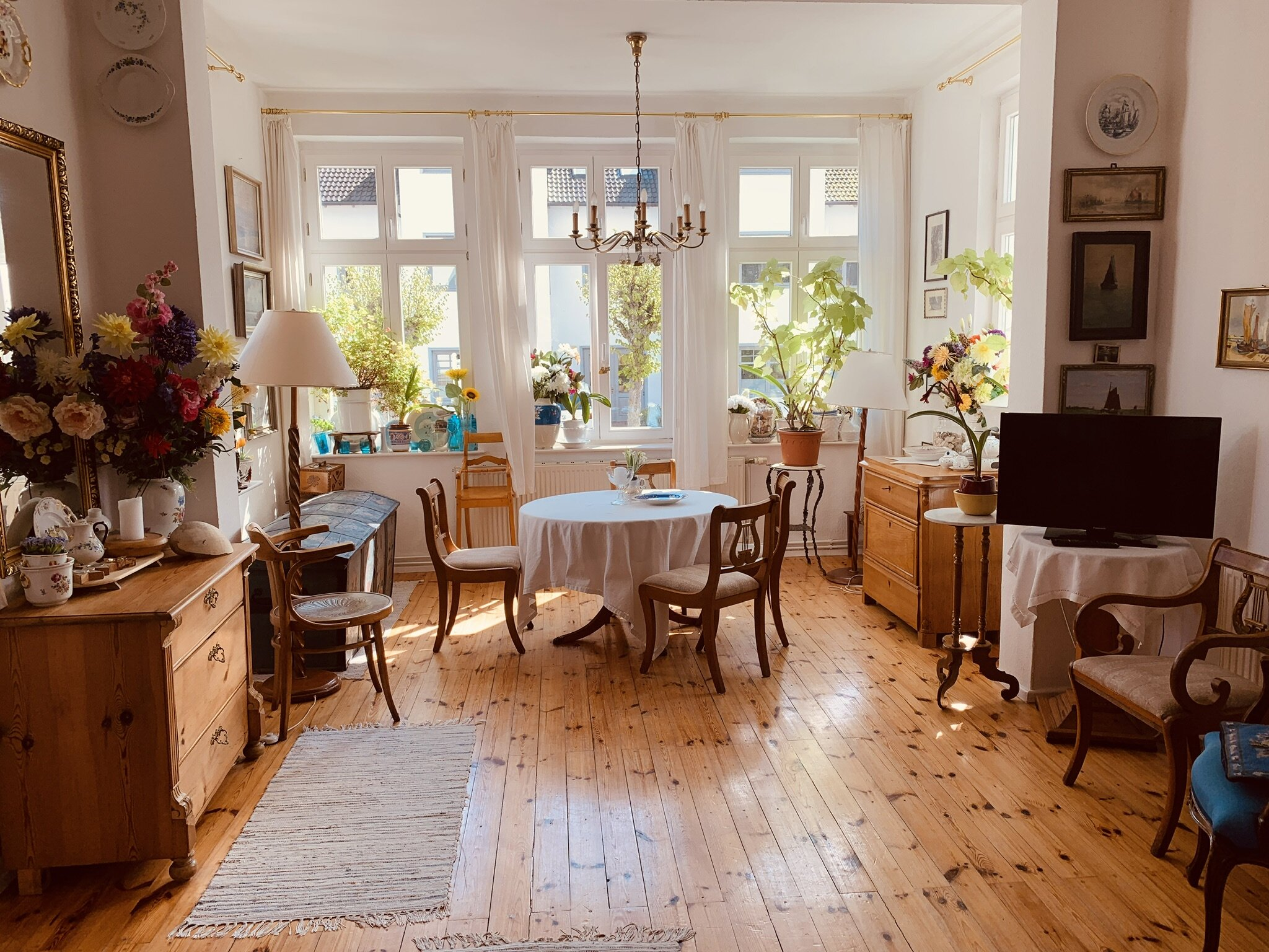Blick in die Wohnküche Fewo Blitzblank