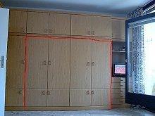 Schrankwand mit klappbarem Doppelbett