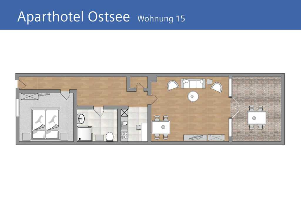 Aparthotel Ostsee (Strandpromenade Binz), F 15: 62