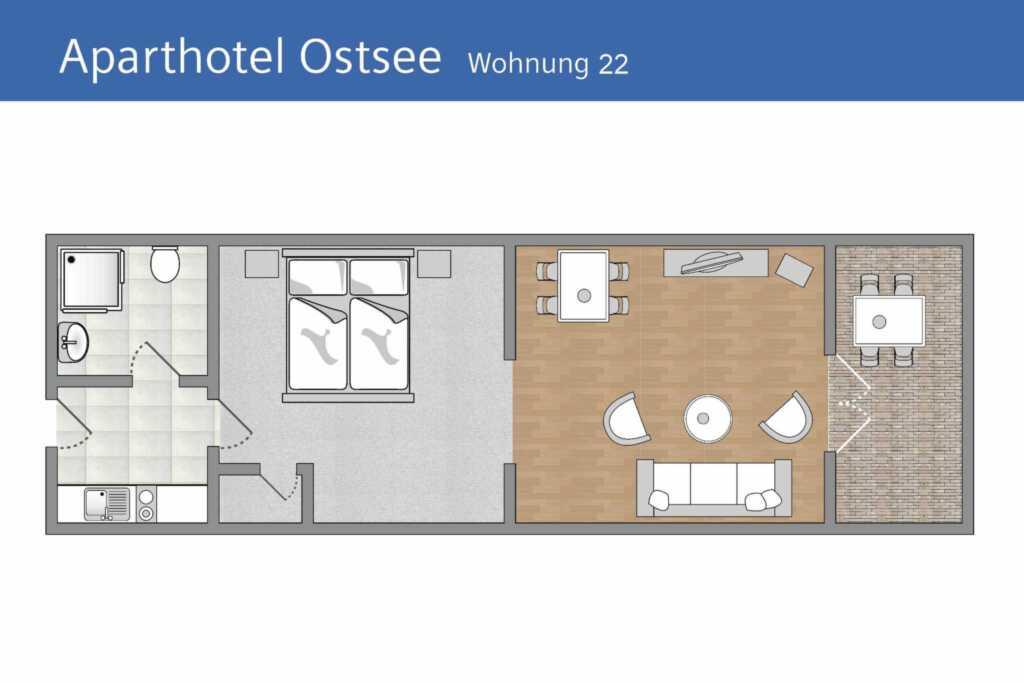 Aparthotel Ostsee (Strandpromenade Binz), B 22: 42
