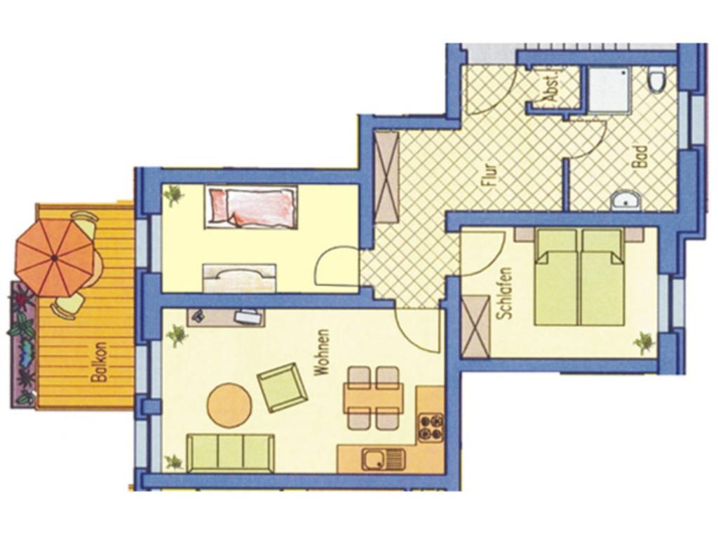 (Brise) Haus Auguste, Auguste 3 Zi-App. 3