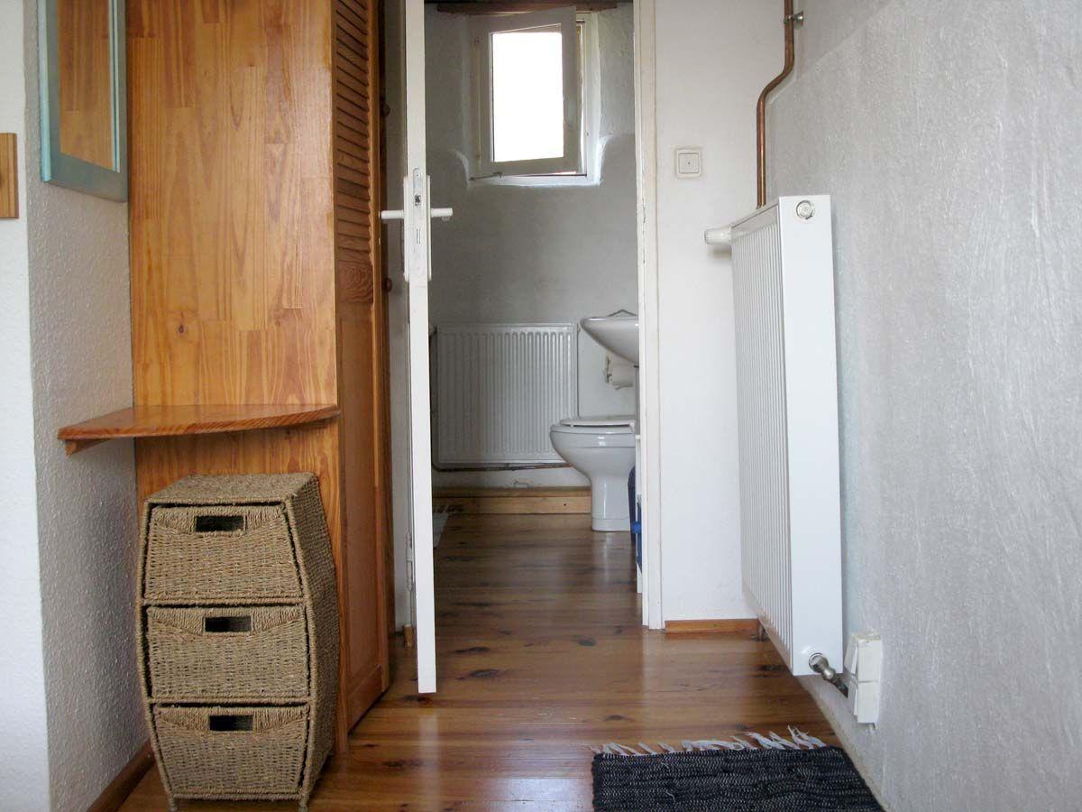 Das Badezimmer in der oberen Etage