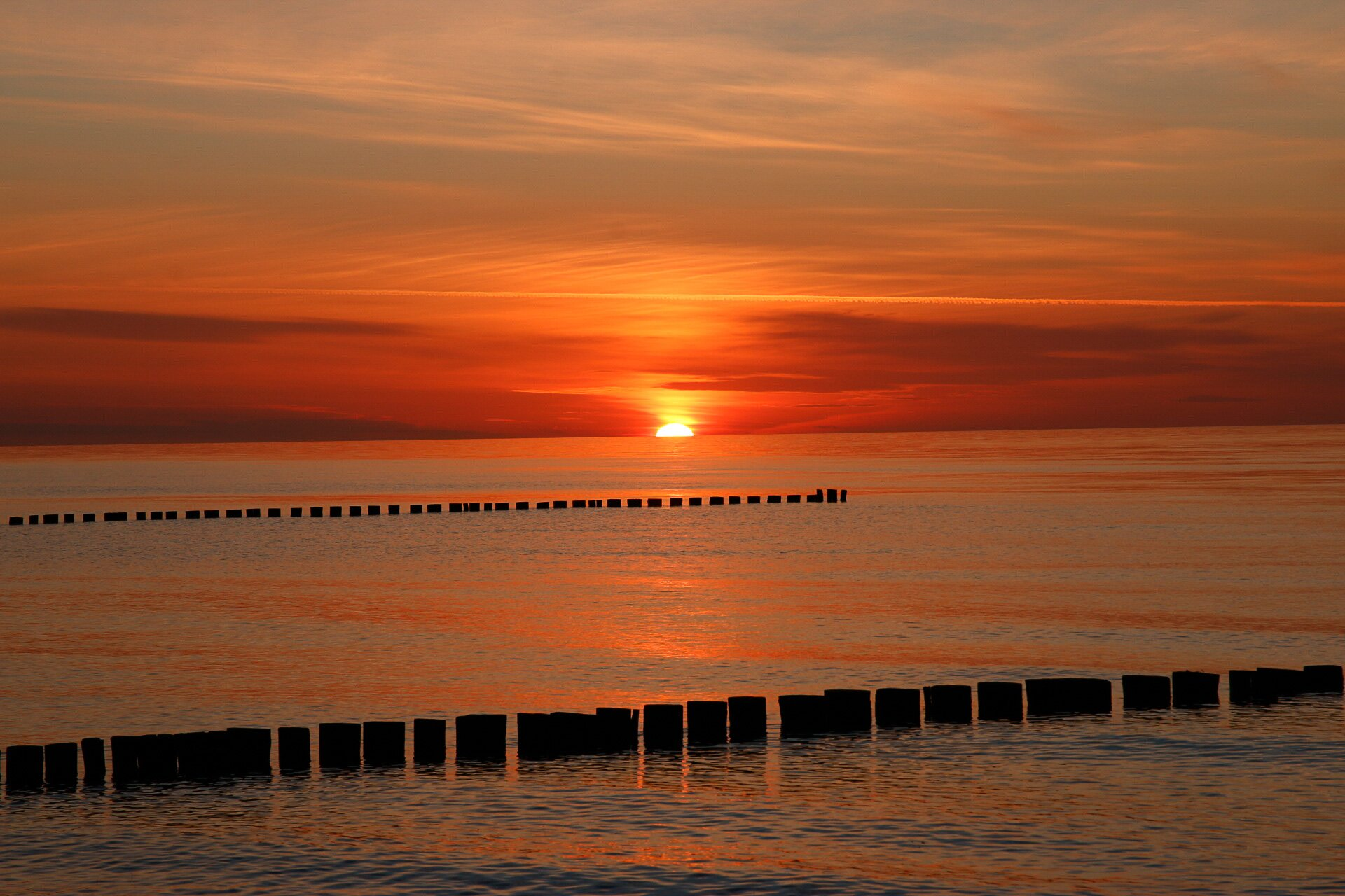 Ein Zingster Sonnenuntergang