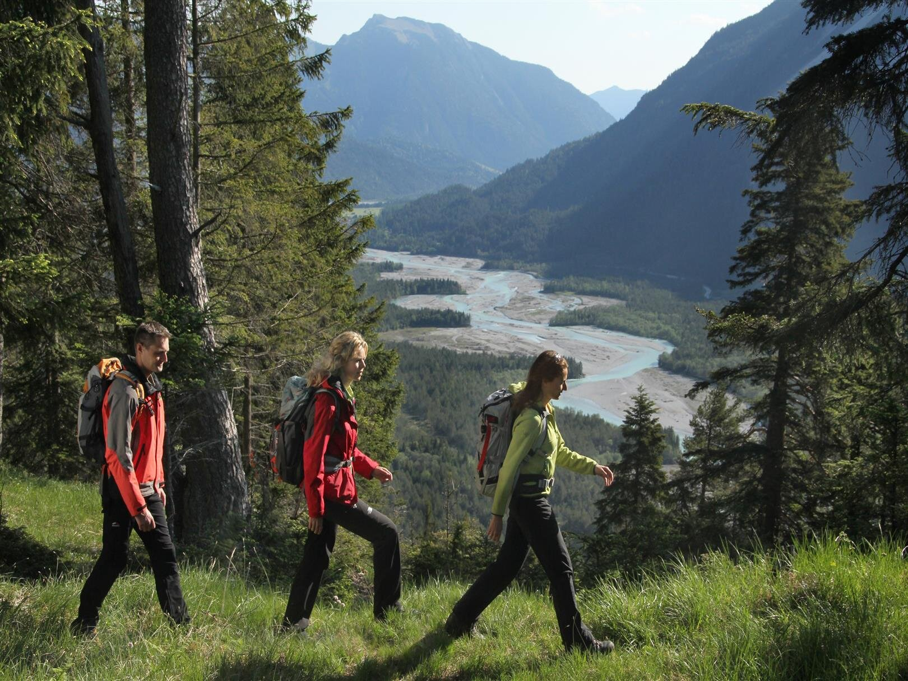Winterwanderwege am Ortsrand von Höfen