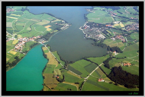 Die Lage der FeWo ist links unten am See