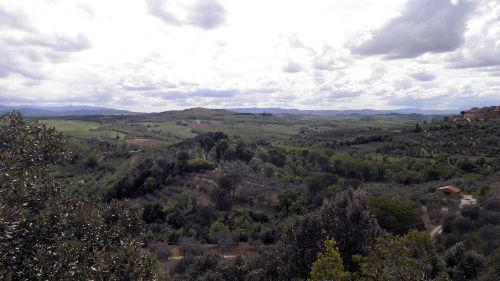 Blick auf Castelmuzzio und M.Amiata