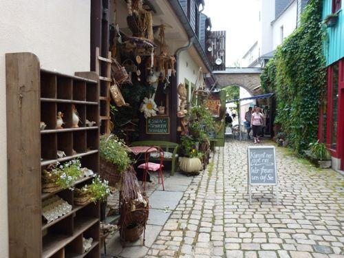 in der Altstadt von Schwarzenberg