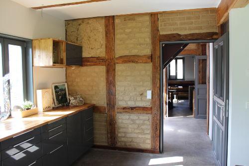 250 Jahre alte Lehmwand