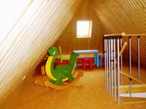 Wohndachboden mit Spielecke