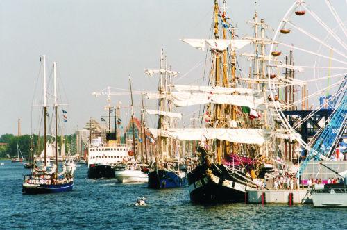 die Hanse Sail im August in Rostock