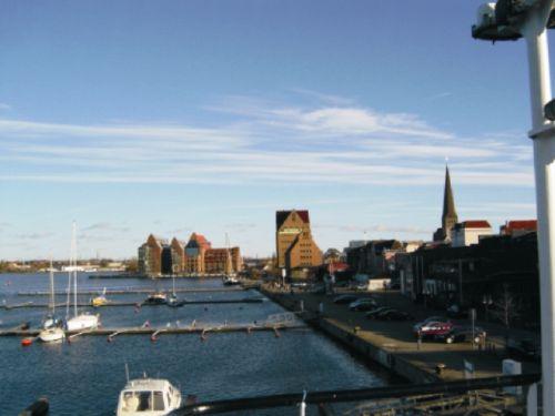 Blick in den Stadthafen von Rostock