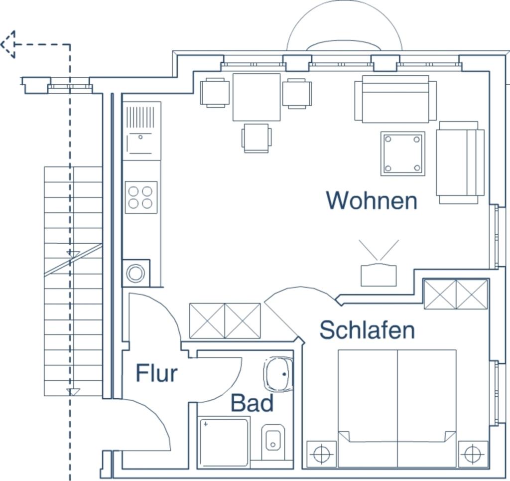 Ferienwohnungen Villa 'Am Sonnenstrand', Kat I - W