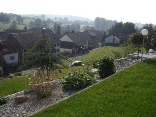 Blick von der Terrasse in die Umgebung