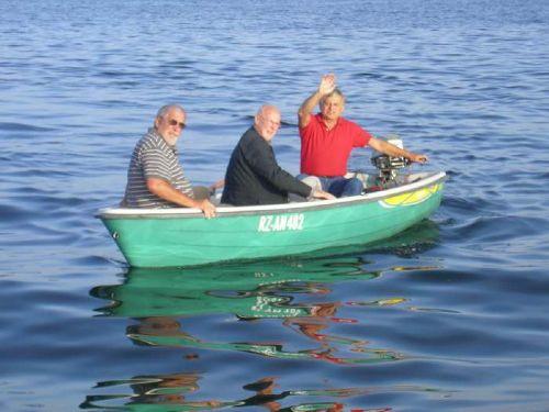 auf Tour mit dem Boot