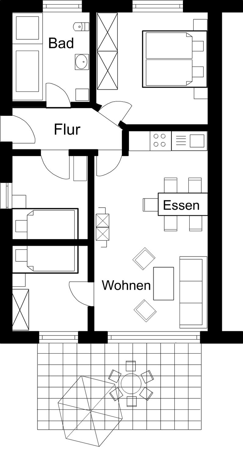 Ferienwohnungen 'Am Mühlenkamp', Kat. I - Wohnung