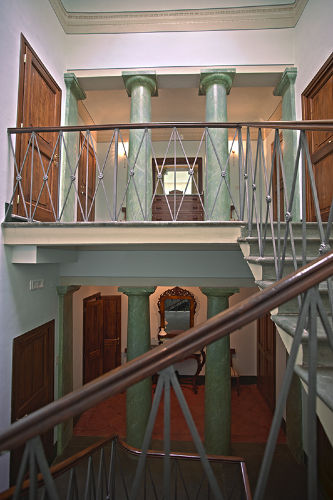 Das Treppenhaus von Villa Humbourg