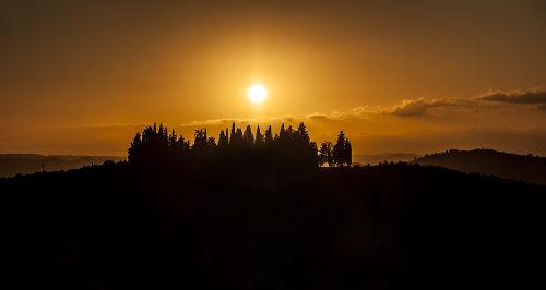 Ein Sonnenuntergang in Sommer