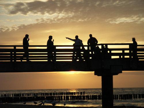 Abendstimmung auf der Seebrücke