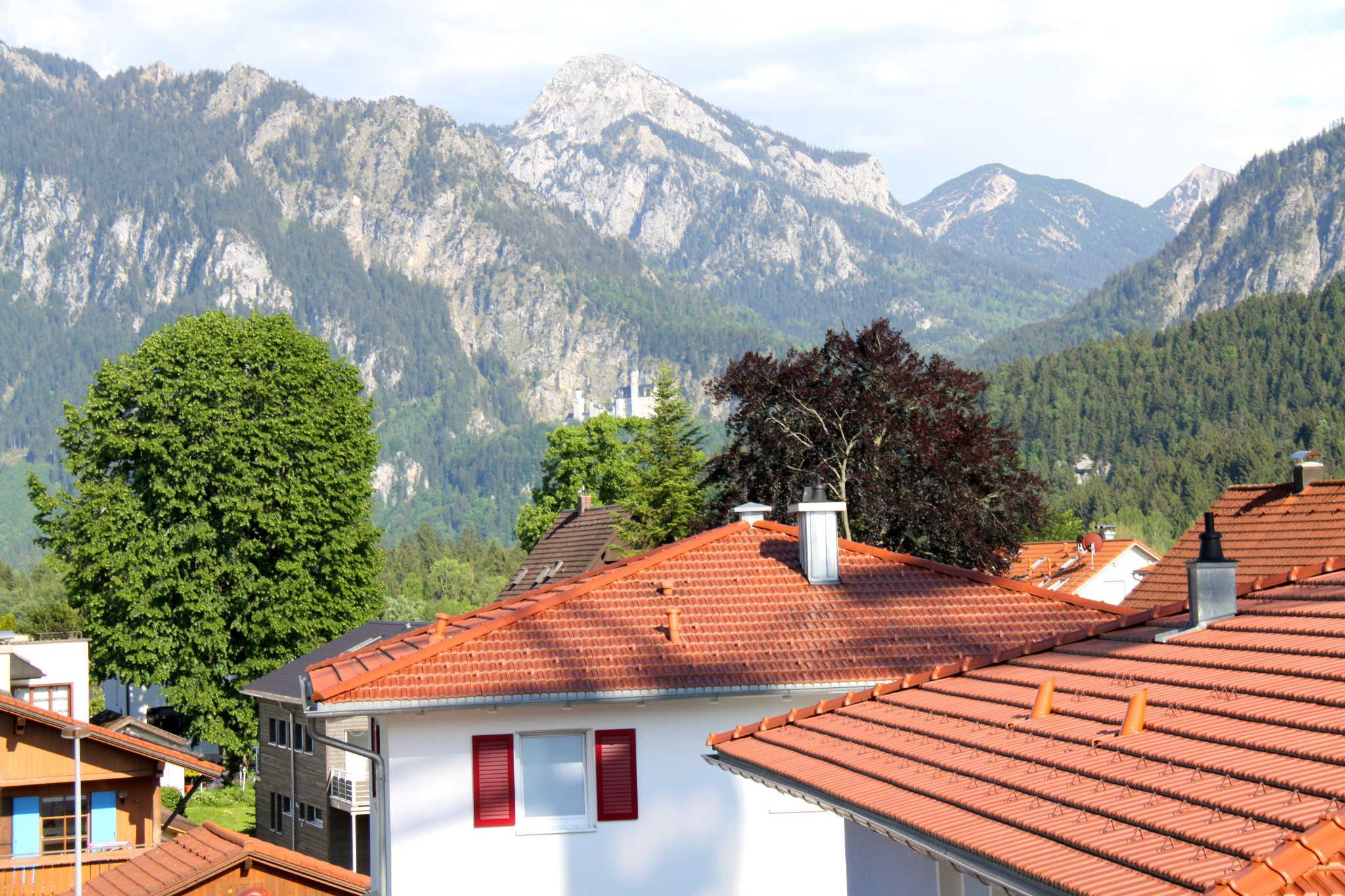 Blick vom Balkon aufs Schloss