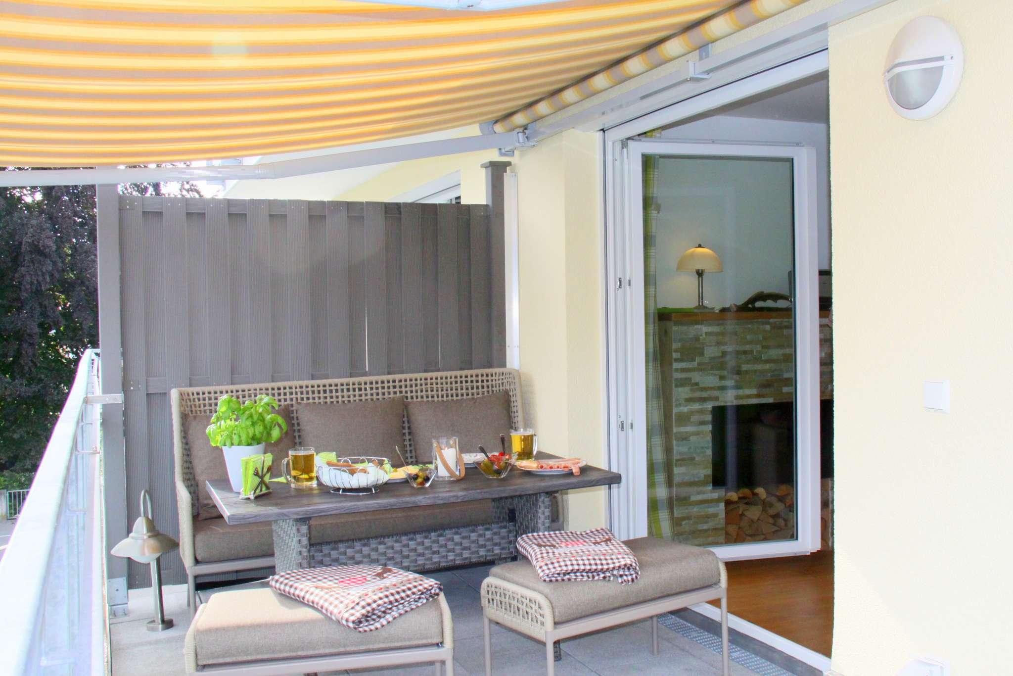 Balkon Ambiente mit Grill