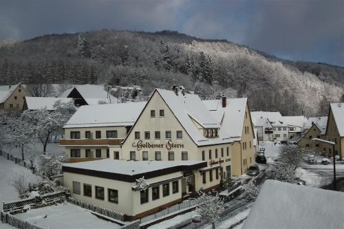 Gasthof Goldener Stern im Winter