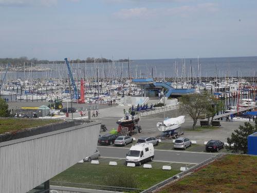 Blick auf den Olympiahafen Schilksee