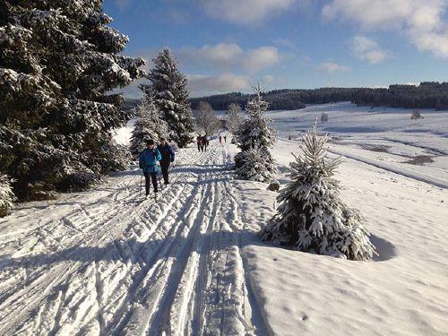 Skiwanderweg nach Jeleni in Tschechien