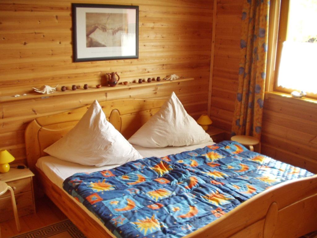 Holzblockhaus mit Kamin am Kite-, Surf- und Badest
