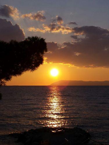 """Sonnenuntergang """"auf unserem Strand"""""""