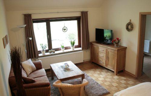 Wohn-/Schlafzimmer mit Parkettboden
