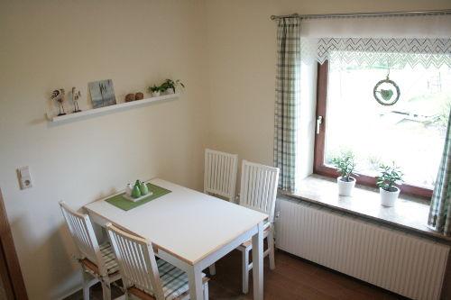 Küche mit Blick auf die Terrasse