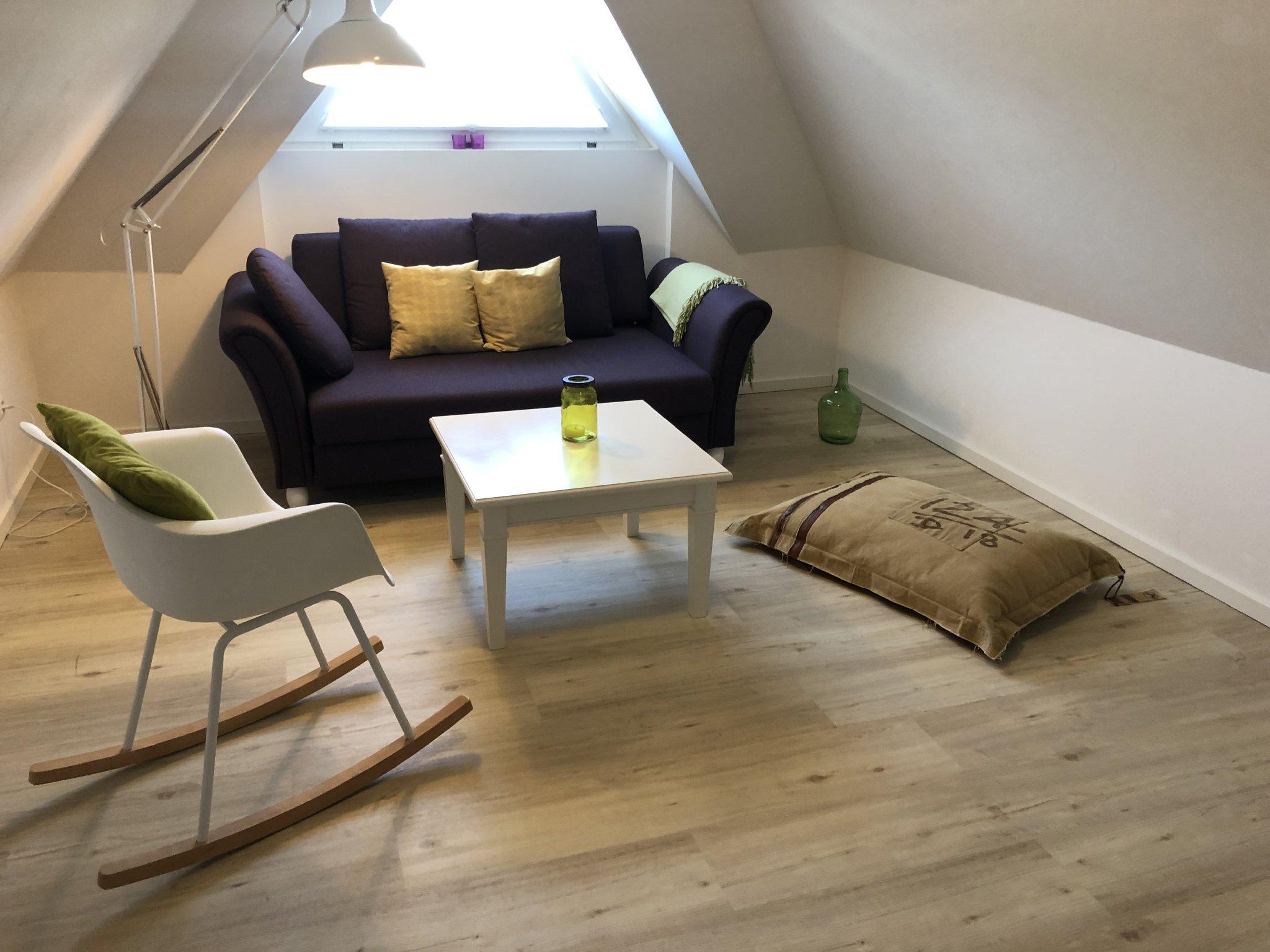 Dachboden mit Schlafsofa/ 3D-TV/ 3. OG