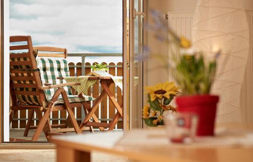 Vom Wohnzimmer zum Balkon