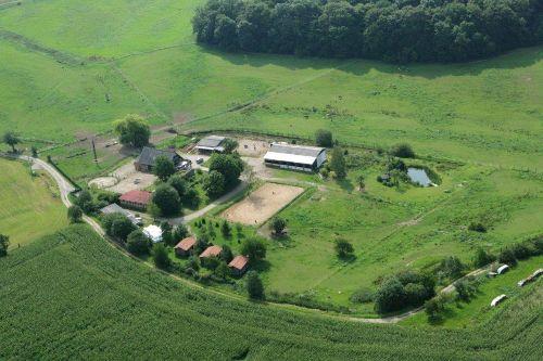 Luftbild von Rittergut Friedenthal