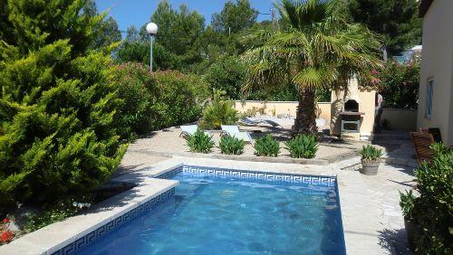Pool, Grill und Sonnenliegen