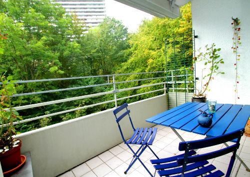 Balkon ins Gr�ne