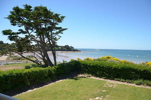 Aussicht vom Haus auf Strand